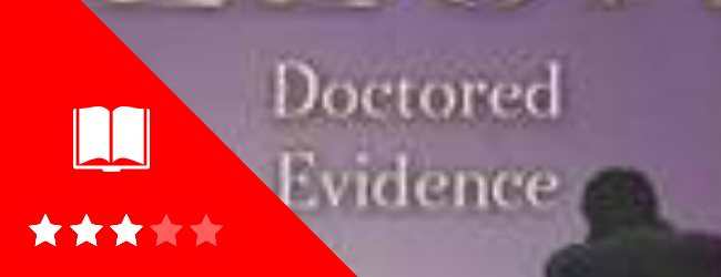 Doctored Evidence book cover and rating
